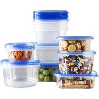 Wayfair Basics 34 Piece Plastic Food Storage Container Set Color: Blue