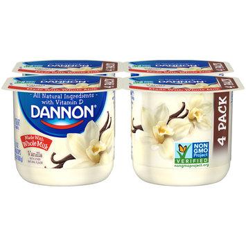 Brand Dannon® Blended Whole Milk Yogurt Vanilla 5.3oz 4pk
