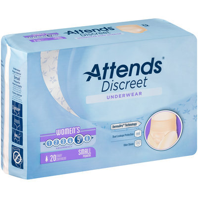 ADUF10 Attends® Discreet Women's Small Underwear 20 ct Pack
