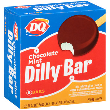DQ® Chocolate Mint Dilly® Ice Cream Bars 6-3.5 fl. oz. Box