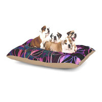 East Urban Home Ebi Emporium 'Effloresence' Dog Pillow with Fleece Cozy Top Size: Small (40