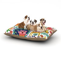 East Urban Home Jane Smith 'Woodland Critters' Colorful Cartoon Dog Pillow with Fleece Cozy Top Size: Large (50
