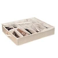 Rebrilliant Under-the-Bed Shoe Box Color: Dusty Blue