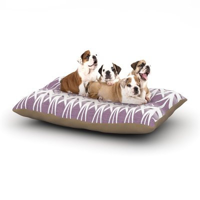 East Urban Home Alison Coxon 'Arrow Lavender' Dog Pillow with Fleece Cozy Top Size: Large (50