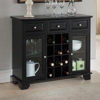Darby Home Co Hannah Wood Storage 12 Bottle Floor Wine Cabinet