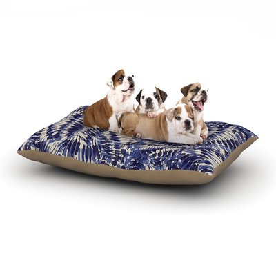East Urban Home Gukuuki 'Iggy Palms' Dog Pillow with Fleece Cozy Top Size: Large (50
