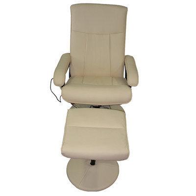 Newacme Llc MCombo Reclining Massage Chair with Ottoman Upholstery: White