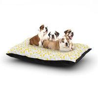 East Urban Home Julie Hamilton 'Lemon Drop' Dog Pillow with Fleece Cozy Top Size: Large (50