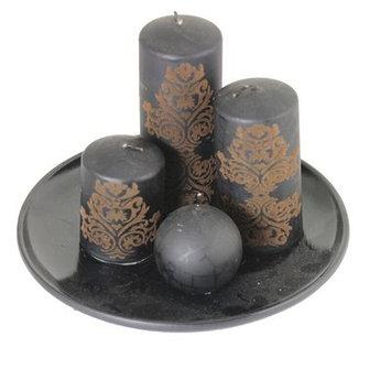 Bloomsbury Market 4 Piece Metallic Unscented Votive Candle