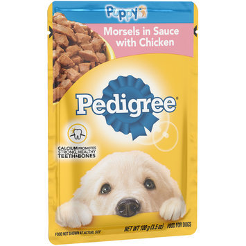 Pedigree® Puppy Morsels in Sauce with Chicken Dog Food