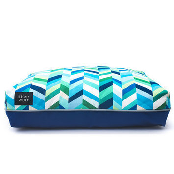 Lion+wolf Geo Chevron Dog Pillow Color: Sea Glass, Size: Small (27
