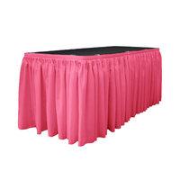 La Linen Table Skirt Color: Hot Pink