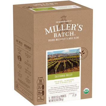 Miller's Batch™ California Valley Organic Multigrain Oatmeal Blend 5-1.86 oz. Packets