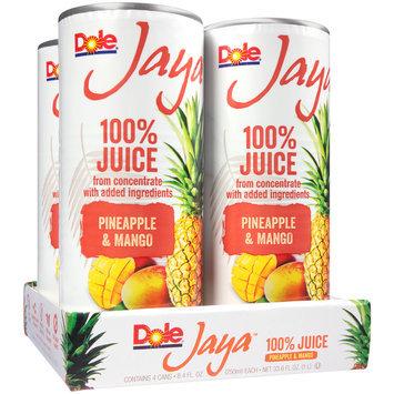 Dole® Jaya™ Pineapple & Mango 100% Juice 4-8.4 fl. oz. Cans
