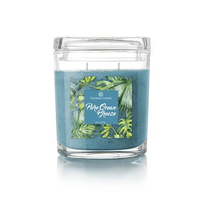 Colonial Candle CC008.5402 8 oz Oval Jar Candle Pure Ocean Breeze Pack of 4