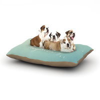 East Urban Home Susannah Tucker 'Never Stop Daydreaming' Dog Pillow with Fleece Cozy Top Size: Large (50