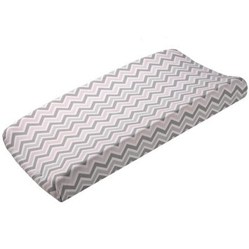 Harriet Bee Celle Mini Chevron Contoured Changing Pad Cover