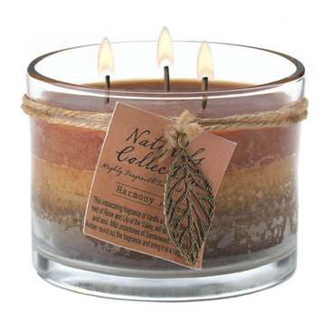 Other Deco Glow Three-Wick Harmony Fragrance Glass Candle