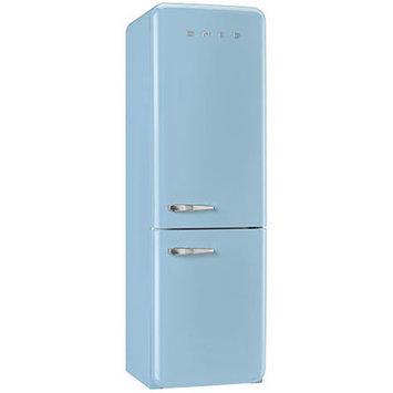 Smeg Pastel Blue 11.7 Cu. Ft. Retro Refrigerator with Bottom Freezer - Right Hinge