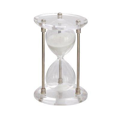 Cole & Grey Metal Acrylic Hourglass Finish: Silver