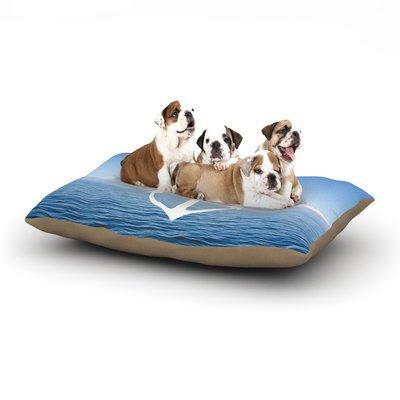 East Urban Home Ann Barnes 'Roam III' Anchor Dog Pillow with Fleece Cozy Top Size: Small (40