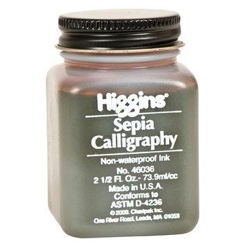 Higgins Calligraphy Waterproof Black Ink sepia 2 1/2 oz.