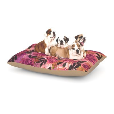 East Urban Home Ebi Emporium 'Grunge Flowers II' Floral Dog Pillow with Fleece Cozy Top Size: Large (50