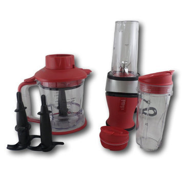 Nutri Ninja 12 Piece 2 in 1 Nutrient and Vitamin Extracting Countertop Blender Set Color: Red