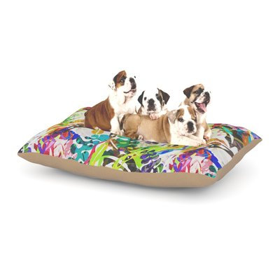 East Urban Home Gabriela Fuente 'Flow' Floral Dog Pillow with Fleece Cozy Top Size: Small (40