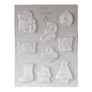 Paderno World Cuisine 6-Imprint Polypropylene Chocolate Mold - 2 1/16