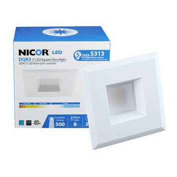 NICOR DQR3-10-120-2K-WH-BF 3 in. Square LED Recessed Downlight in 2700K White