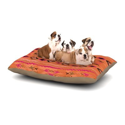 East Urban Home Nina May 'Navano' Tribal Dog Pillow with Fleece Cozy Top Size: Large (50
