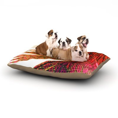 East Urban Home Alison Coxon 'Feather Pop' Dog Pillow with Fleece Cozy Top Size: Large (50