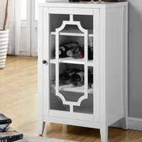 Acme Furniture Fina 8 Bottle Floor Wine Cabinet Finish: White