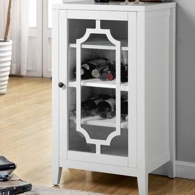Acme Furniture Fina 8 Bottle Floor Wine Cabinet Finish: White
