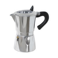 Cuisinox Aluminum Espresso Coffee Maker with Window Size: 6 Cup