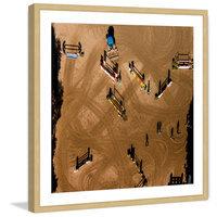 Marmont Hill Inc Marmont Hill - 'Hurdles' by Karolis Janulis Framed Painting Print