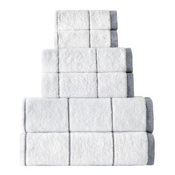 Rokahome Stripes 6 Piece Towel Set Color: Gray