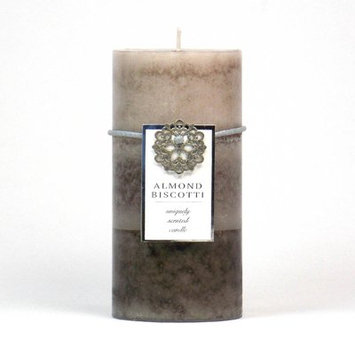 Highland Dunes Ocean Mist Scented Pillar Candle Color: Brown, Size: 3