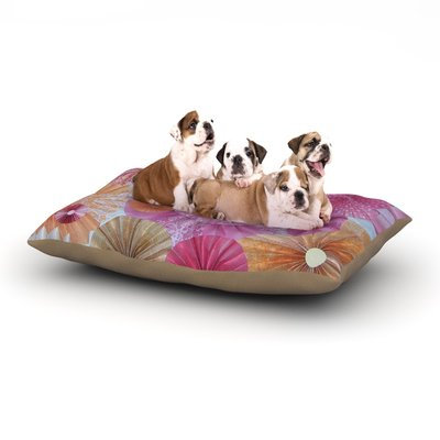 East Urban Home Heidi Jennings 'Blossoming' Dog Pillow with Fleece Cozy Top Size: Large (50