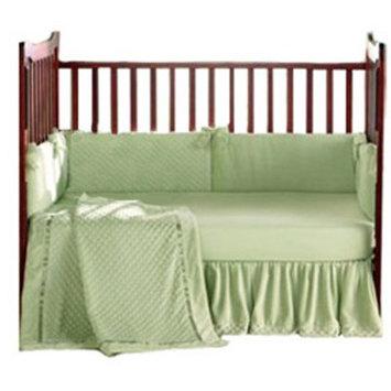 Baby Doll Bedding Heavenly Soft Crib Bedding Set - Blue