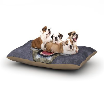 East Urban Home Ancello 'Abstract Tiger' Dog Pillow with Fleece Cozy Top Size: Small (40