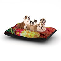 East Urban Home Mary Bateman 'Passion Flowers' Dog Pillow with Fleece Cozy Top Size: Small (40