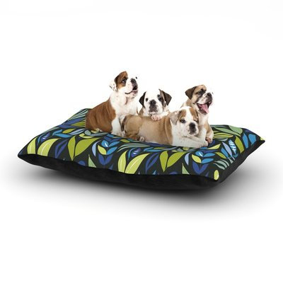 East Urban Home Michelle Drew 'Underwater Bouquet' Dog Pillow with Fleece Cozy Top Size: Large (50