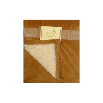 Pem America Beansprout Micro Mink Reversing to Sherpa Crib Throw Brown - PEM-AMERICA, INC.