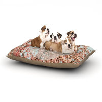 East Urban Home Robin Dickinson 'In Heaven' Cherry Blossom Dog Pillow with Fleece Cozy Top Size: Small (40