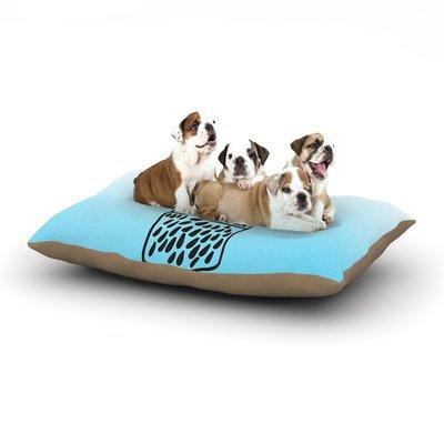 East Urban Home Vasare Nar 'Unicorn Wish Jar' Dog Pillow with Fleece Cozy Top Size: Small (40