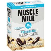 Muscle Milk® Cookies 'N Cream Flavored Protein Bars 5-1.76 oz. Bars