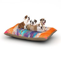 East Urban Home Danny Ivan 'Colorful Fire' Cool Fire Dog Pillow with Fleece Cozy Top Size: Large (50