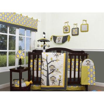 Geenny Go Happy Monkey 13 Piece Crib Bedding Set